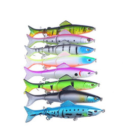 Wholesale Segments Swimbait Fishing Lure Crankbait - 8 color Artificial Fishing Lure 3 Segment Swimbait Crankbait Hard Bait 127mm 176g Life-like Fishing Baits Fish Lures With 2# Hooks