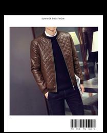 Vente en gros-M - 3XL nouveaux hommes veste en cuir Menleather Jaqueta Couro Masculino Bomber Bikerleather vestes pour hommes peau veste manteau ? partir de fabricateur