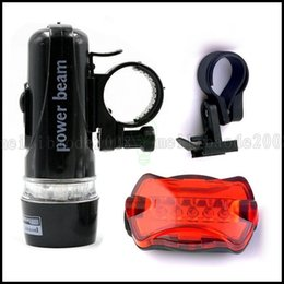 Wholesale Sports Flash Drives - 5 LED Bicycle Headlight Light Holder With Warning Lights Flashing Flashlight Riding Equipment Taillight Butterfly Outdoor Sport Lighting