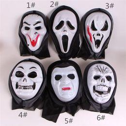 máscara de fantasma rosto cheio Desconto Natal Halloween Crânio Esqueleto Partido Cosplay Masquerade Máscara de Traje Máscaras de Fantasma Assustador Máscara de Horror Facemask Cheia, itens misturados