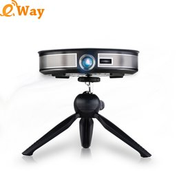 Wholesale Android Led Projector Full Hd - 2G 32G D8S Mini Projector LED Full HD 1080P Android 6.0 box Portable Projector DLP Wifi Home Theater Pocket Held HDMI USB
