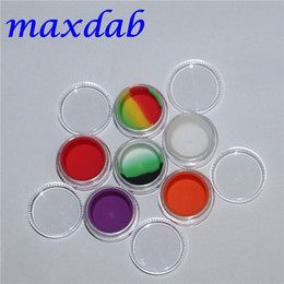 Wholesale Toy Shipping Containers - 3ml clear acrylic wax concentrate containers, Non-stick silicone Dab BHO Hash Oil Dry Herb Storage Jars Free Shipping