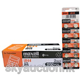 Wholesale Lr44 Button Cell Battery - Maxell LR44 A76 AG13 D76A 1.5V cell coin button battery