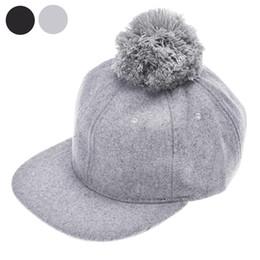 Wholesale Fun Times - Mance Fashion Design Winter Cute Woolen Ball Children Boys Girls Baseball Hat Hip-hop Cap Have fun time Christmas gift