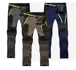 Wholesale Sports Tex - Wholesale-Trekking Man Summer Trousers Hiking Men 5XL anti-UV Travel sport quick dry pant camping Cycling Fishing Elastic Clothing P55