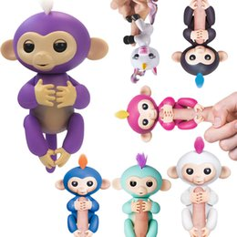 Wholesale Toy Shipping Bike - Fingerlings Kids Toys Glitter Finger Monkey Electronic Toy Doll Children Novelty Toys Interactive Baby Christmas Gifts 480pcs Free Shipping