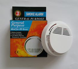 Wholesale Wholesale Wireless Security Systems - White Wireless Smoke Detector System with 9V Battery Operated High Sensitivity Stable Fire Alarm Sensor Suitable for Detecting Home Security