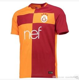 Wholesale Best Turkeys - Best Thai quality 2017 2018 Turkey Galatasaray soccer jersey 17 18 Galatasaray Jose Rodriguez Umut Bulut Sneijder home away football shirt