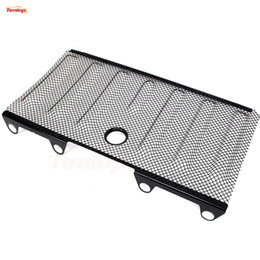Wholesale Stainless Grille - Car-Styling Hot Sale 3D Red Stainless Steel Bug Screen Shiled Grille With Key Hole For Offroad Wrangler