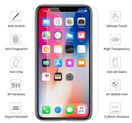 Canada Pour Iphone 8 Verre Trempé Protecteur D'écran Film Pour Iphone X 7 6 Plus 5S Pour Ipod Touch 6 5 9H Anti Scratch 2.5D 0.26 MM 2018 Vente Chaude Offre