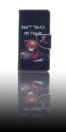 Wholesale Cute Chinese Wallets - Vogue Design Cartoon Little Cute Bear Painting Wallet PU Leather Flip Case For Huawei Ascend P9Lite Stand With Card Slot Silicon Inner Case
