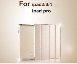 Wholesale Cheap Ipad Wholesale - Factory Price!!! Cheap For iPad Pro 9.7 Fold Magnetic Smart Cover Matte Back Cases iPad Air 2 Mini Retina Folding Case With Auto Sleep Wake