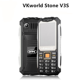 Wholesale Wholesale Italian Lighting - Non-smart phone VKWorld V3S 2.4 inch Waterproof Dropproof Dustproof Mobile Phone Dual LED Light FM Dual SIM Cell Phone