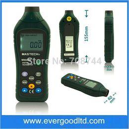 Wholesale Mastech Digital Meter - Wholesale-Non contact Tacometro Rotation Speed 50RPM-99999RPM Data Storage MASTECH MS6208B LCD Digital Laser Photo Tachometer RPM Meter