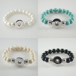 Wholesale Semi Precious Bracelet - Best Sellers Semi Precious Stones Beads Snaps Bracelets Fit 20mm Ginger snaps button From Partnerbeads Jewelry KB4500