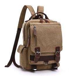 Wholesale Girls Canvas School Bags - Small Canvas Backpack School bag Shoulder Bag Rucksack Daypacks
