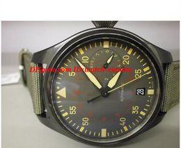 Wholesale Chronograph Pilot Watch - Luxury Wristwatch 46mm Pilots Anthracite Dial Quartz Chronograph Ceramic I W3880-02 Fashion Brand Mens Watch Men's Watches