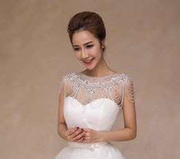 Wholesale Shoulder Crystal Jewelry Necklace - 2016 Bling Bling High Quality Bride Shoulder Chain Bridal Beads Crystals Wraps Wedding Bridal fashion Necklace Wedding Jewelry Rhinestones
