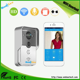 Wholesale Support Records - Home Security Smart Wifi Doorbell use 3G 4G cellphone control answer,snapshot and recording ,Motion Detect support AS-WD02