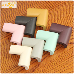 Wholesale Bumper Size - Wholesale- 4-8PCS Bigger Size Edge&Corner Guards Protect Baby Safety Product Soft Rubber Solid Corner Protector Bumper Baby Security Stuff