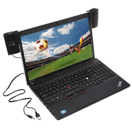 Wholesale Computers Laptops Notebooks - Quality 1 Pair Mini Portable Clipon USB Stereo Speakers line Controller Soundbar for Laptop Notebook PC Computer with Clip