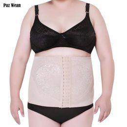 Wholesale Tummy Tuck Body Shaper - Wholesale- Big Plus Size Women Waist Cincher Trainer Corset Tummy Trimmer Control Underwear tuck belt Slimmer Shapewear Girdle Body Shaper
