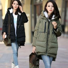 Abrigo de invierno de maternidad militar larga floja con capucha moda espesar capa para mujeres embarazadas Abrigos de embarazo abrigos chaquetas desde fabricantes
