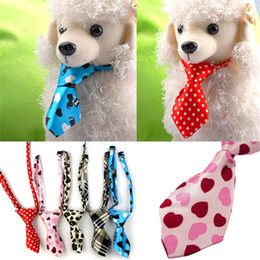 Wholesale Tie Neck Wedding Dress - Color Adjustable Dog Cat Pet Puppy Toy Grooming Bow Tie Necktie Clothes puppy dress up neck tie suypply