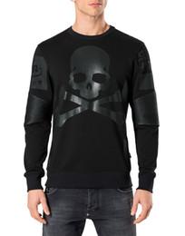 Wholesale Nwt Fashion - 2017 New arrival Germany brand men's fashion casual jumper sweatshirt leather mix sweat hoodies M-3XL NWT