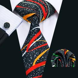 neue stilvolle krawatte Rabatt Neue Ankunfts-Hochzeits-Bindung mit Manschettenknöpfen Hanky Männer klassische stilvolle braune Bindung formale Geschäfts-breite Bindung N-1297