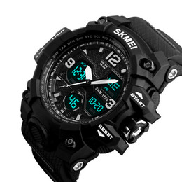 Wholesale Multifunction Quartz Movement - New Arrival Skmei 1155 B Multifunction Fashion Sports Digital Watch 8 Colors Japanese Movement 50M Water Resistance Free Shipping Utop2012