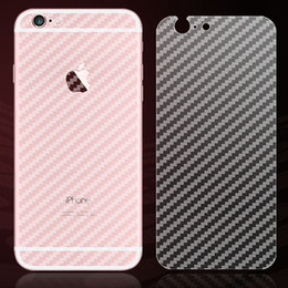 Wholesale Iphone Carbon Stickers - For iphone 7 full body 3D carbon fiber sticker Back side sticky skins APPLE cut protector films for iphone 6 7 plus cover