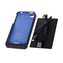 Wholesale Iphone 4s External Charger - Ultra Slim 1900mAh External Backup Battery Charger Case Replacement Repair Parts Cover For iPhone 4 4S 5 5S iPhone4S iPhone5S Wholesale