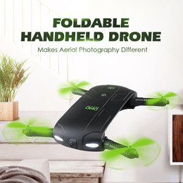 Wholesale Video Camera Connections - JJRC DHD D5 Selfie FPV Drone With HD Camera Foldable RC Pocket Drones Phone Control Helicopter Mini Dron VS JJRC H37 523 Quadcopter