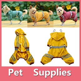 Wholesale Teddy Halloween Costume - Teddy Pets Rain Coat For Small Puppy Dogs Jacket Cute Casual Waterproof Dog Clothes Pet Supplies 160919