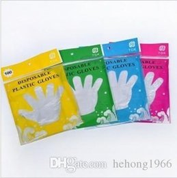 Wholesale disposable gloves wholesale - PE Disposable Glove Oil Proof Waterproof Transparent Gloves Multi Function Easy To Use Mittens For Home Clean 0 7rr R