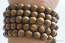 Wholesale Green Braclet - brand 8mm Tibetan Buddhism 108 green sandalwood Necklace Prayer Beads braclet