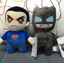 Wholesale Superman Stuff Doll - NEW Batman plush toys Movie Character batman VS superman plush dolls 20cm cartoon Stuffed Animals soft dolls EMS free Xmas gift D391 48
