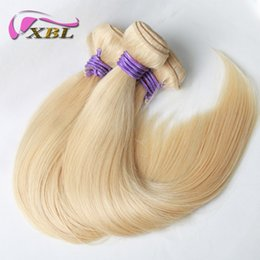 Wholesale Price Bundle - xblhair straight blonde brazilian human hair weave wholesale price virgin human hair bundles 2 3 bundles one set