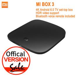 Wholesale Global Tv - Global Version Xiaomi Mi TV Box 3 Android 6.0 4K 8GB HD WiFi Bluetooth Multi-language Youtube DTS Dolby IPTV Smart Media Player