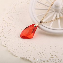 Wholesale Philosopher Stone - Moive The Sorcerer's Red Crystal Magic Philosophers Stone Charms Women fire opal necklace & pendants Fashion Ruby Jewelry gifts