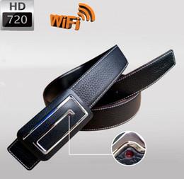 Wholesale Hidden Time - 720p HD Men leather belt wireless SPY hidden camera Fation Belt wifi camera surveillance camera Spy Cams real time monitoring