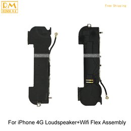 Wholesale Iphone Antenna Ringer - 5pcs lot Original For iPhone 4G 4S Loudspeaker+Wifi Antenna Flex Assembly Buzzer Ringer Repair Replacement Parts Mobile Phone Flex Cable
