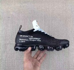 Wholesale C Lower - 2017 Discount New Vapormax 10X Off White Shoes Virgil Abloh Men and Women Mesh Breathable Casual Shoes Low AA3831-001 Shoes Vapormax 36-45