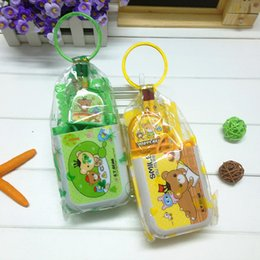Wholesale Kids Stationery Gift Sets - Cartoon Stationery Set Students kids gift Fold Pen container scaler Pencil 4 colour