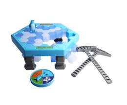 Wholesale Games Break - MINI Ice Breaking Save The Penguin Family Fun Game Penguin Trap Activate Funny Table Game Interactive Entertainment Toy