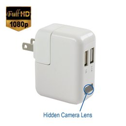 Wholesale Mini Camcorder Charger - 1080P Spy Camera Motion Detection Camera Adapter Hidden Camera Nanny Cam Mini Camcorder Video Recorder Phone Charger Mini DV DVR