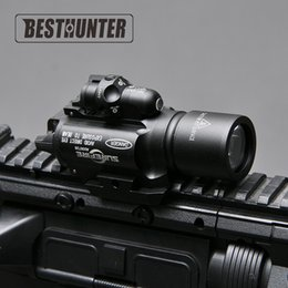 Wholesale Laser For Handguns - Surefire LED Rifle X400 Handgun Flashlight With Red Laser Sight For Rifle Scope For Hunting
