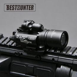 Torcia elettrica di caccia principale rossa online-Surefire LED Rifle X400 pistola torcia con mirino laser rosso per portata del fucile per la caccia