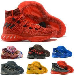 Wholesale Youth Basketball Shoes Cheap - Cheap Crazy Explosive Basketball Shoes Boots Men Blue 2017 Rose Primeknit Andrew Wiggins High Youth Man Training Athletics Sports Shoe Sneak